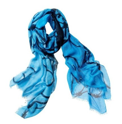 Chico's Limited Edition Cerulean Sky Scarf  by Artist and Businesswoman Sheila Johnson, To Benefit Stand Up To Cancer(PRNewsFoto/Chico's)