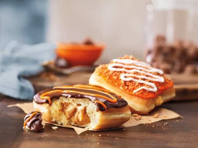 Sweet Fall Harvest for Donut Lovers: Dunkin' Donuts Introduces New REESE'S Peanut Butter Squares and Pumpkin Cheesecake Squares (PRNewsFoto/Dunkin' Donuts)