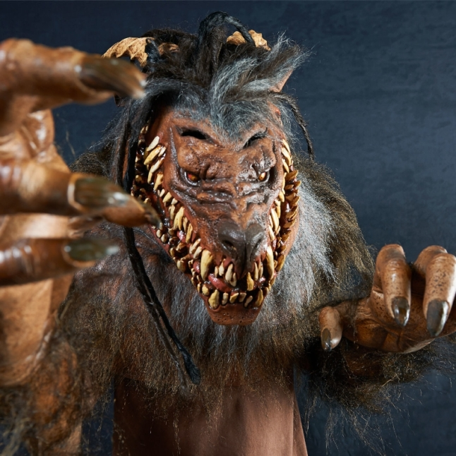 Snarling Werewolf is a part of The Nightmare Collection, 14 hand-crafted masks and costumes created exclusively for BuyCostumes.com(R) by master sculptor Mario Chiodo. (PRNewsFoto/BuySeasons, Inc.)