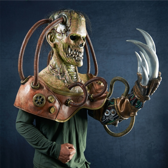 Steampunk Frankenstein is one of 14 monstrous masks within The Nightmare Collection, available on BuyCostumes.com. (PRNewsFoto/BuySeasons, Inc.)