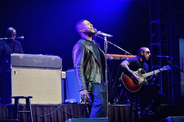 Usher performs at the 2015 Ford Neighborhood Awards Hosted By Steve Harvey at Phillips Arena on August 8, 2015 in Atlanta, Georgia.  (Photo by Moses Robinson/Getty Images for Neighborhood Awards)