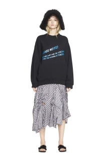 Acne Studio Sweatshirt, Creatures of the Wind Skirt, Simone Rocha Sandals