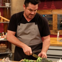 Contestant Dean Cain, in the kitchen during Food Network's Worst Cooks In America Celebrity Edition, Season 7.