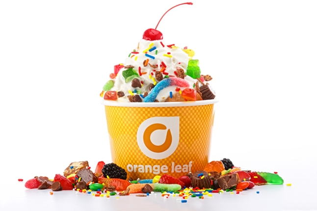 Orange Leaf Frozen Yogurt is a self-serve, choose-your-own-toppings frozen dessert franchise founded in 2008 with more than 300 locations in the U.S. and Australia.