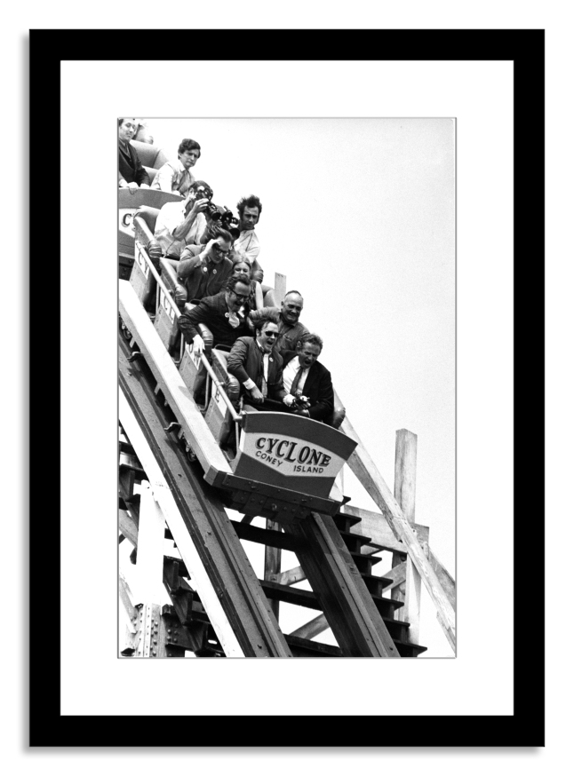 Coney Island Cyclone Rollercoaster Ride (by Fred W. McDarrah (Image courtesy of Photo.com by Getty Images)