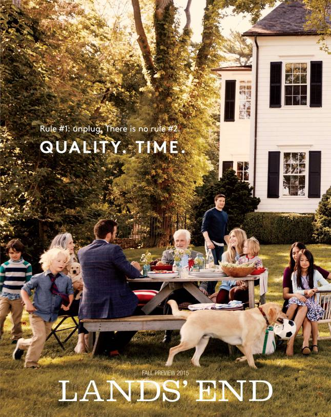 "The cover of the new ""Quality. Time."" Land's End Catalog"