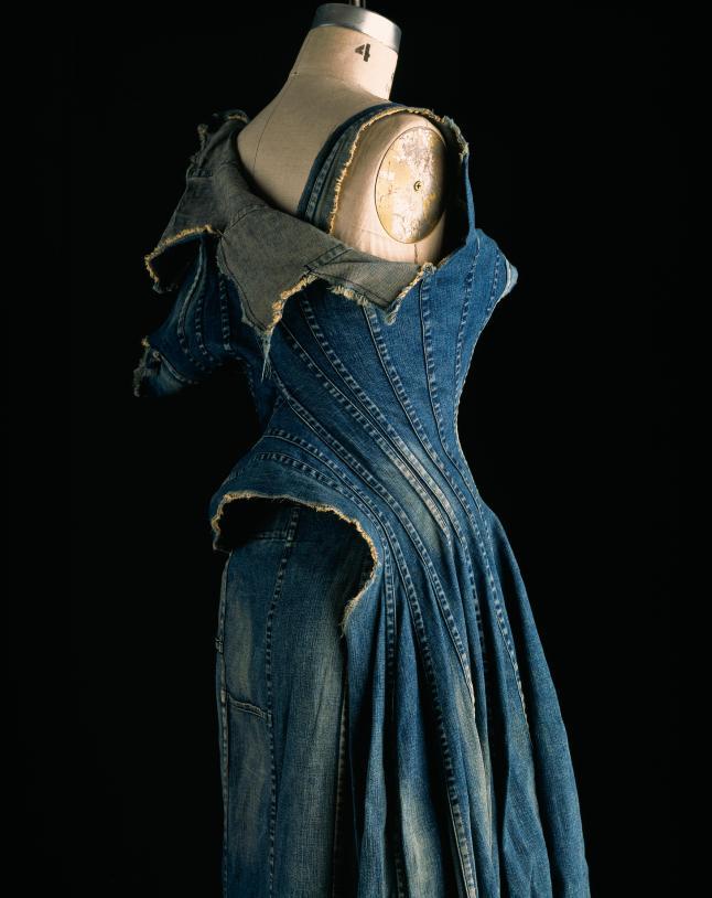 Comme des Garçons (Junya Watanabe), dress, repurposed denim, spring 2002, Japan, museum purchase. Photograph by William Palmer.