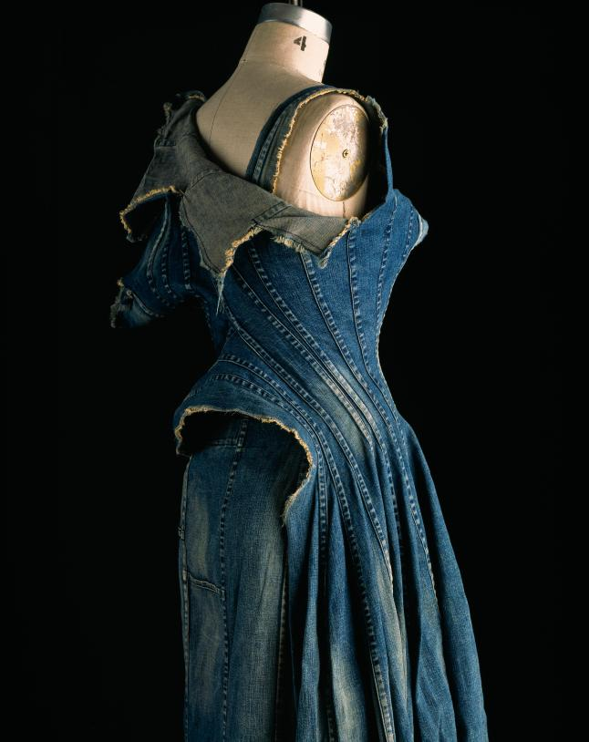 Comme des Garçons (Junya Watanabe), dress, repurposed denim, spring 2002, Japan, museum purchase. Photograph by William Palmer.