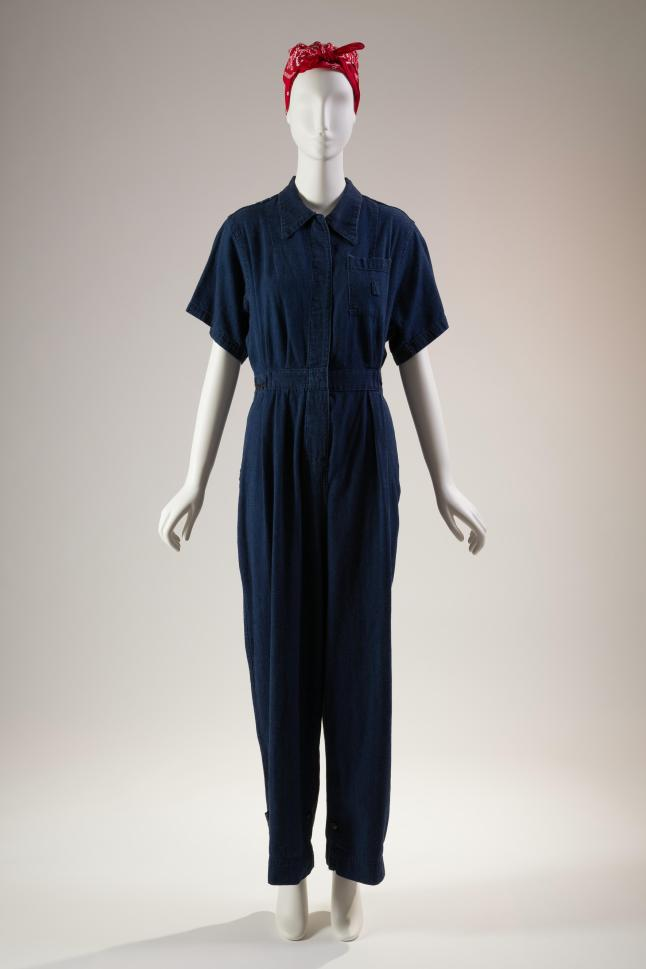 Jumpsuit, denim, 1942-45, USA, gift of David Toser. Photograph courtesy of The Museum at FIT.