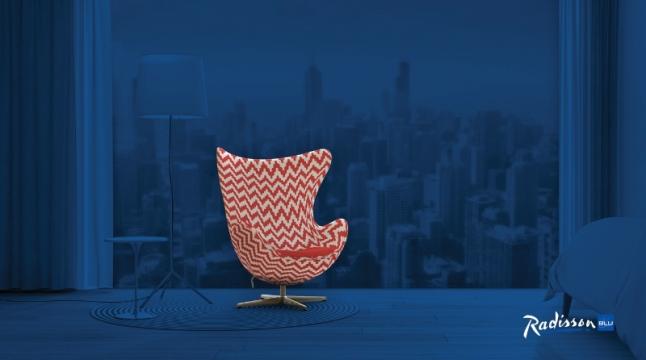 Radisson Blu(R) announced a global design contest inviting participants to customize the iconic Egg(TM) chair, originally created by the legendary Danish architect and designer Arne Jacobsen for the SAS Royal Hotel, Copenhagen. (PRNewsFoto/Radisson Blu)