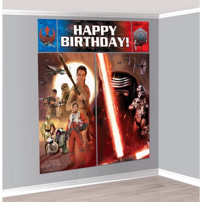 Scene Setter party supply decoration from Star Wars: Episode VII, available from BirthdayExpress.com (PRNewsFoto/BuySeasons, Inc.)