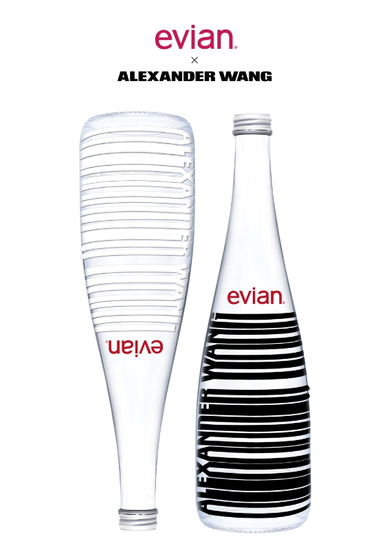 evian + Alexander Wang Limited Edition Bottle (PRNewsFoto/evian)
