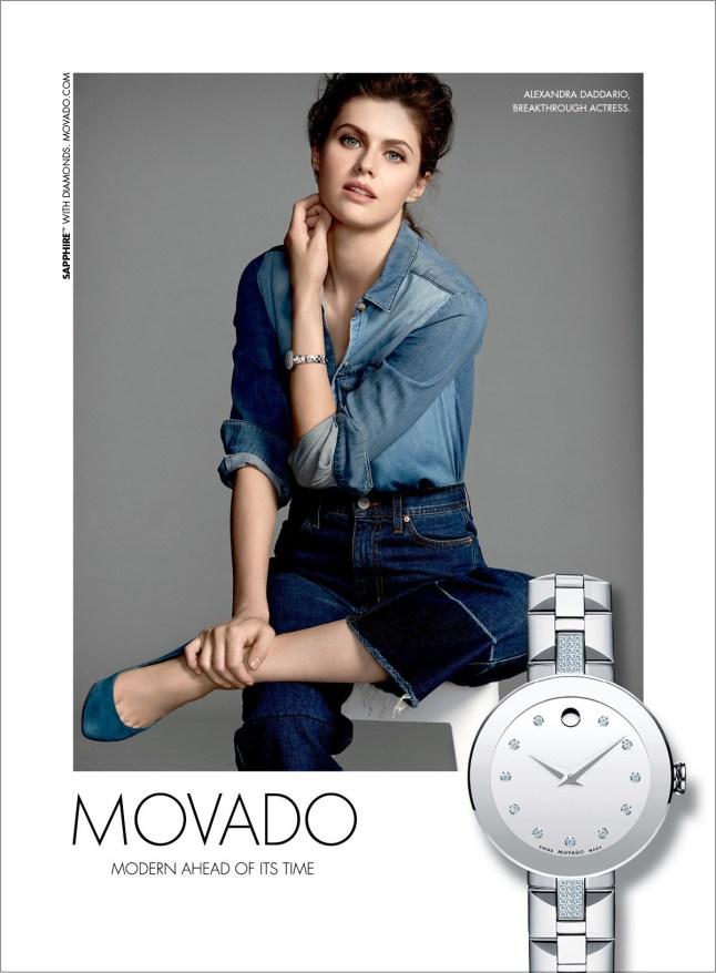 Movado Fall 2015 Ad Campaign featuring Alexandra Daddario (PRNewsFoto/Movado Group, Inc.)