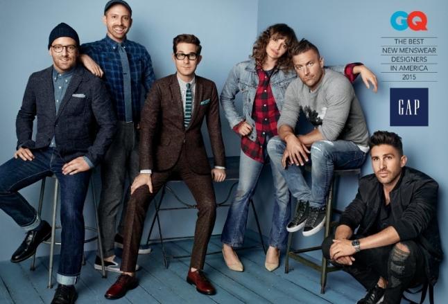 Gap x GQ Best New Menswear Designers in America 2015 Group Image (PRNewsFoto/Gap)