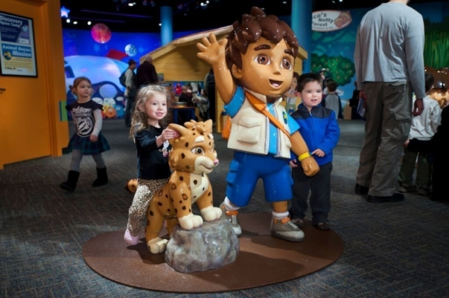 Children enjoying the Dora & Diego - Let's Explore! exhibit at Liberty Science Center. (PRNewsFoto/Liberty Science Center)