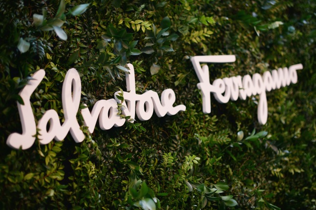 BEVERLY HILLS, CA - SEPTEMBER 09:  A view of store signage as Ferragamo Celebrates 100 Years in Hollywood at the newly unveiled Ferragamo boutique on September 9, 2015 in Beverly Hills, California.  (Photo by Charley Gallay/Getty Images for Ferragamo)