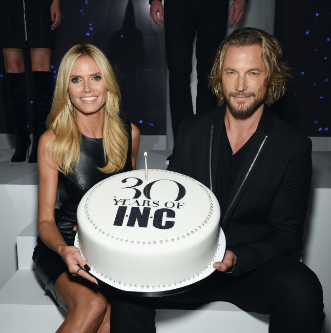 Heidi Klum and Gabriel Aubry attend Heidi Klum + Gabriel Aubry's celebration of the launch of INC's 30th Anniversary Collection at IAC Building on September 10, 2015 in New York City.  (Photo by Dimitrios Kambouris/Getty Images for Heidi Klum)