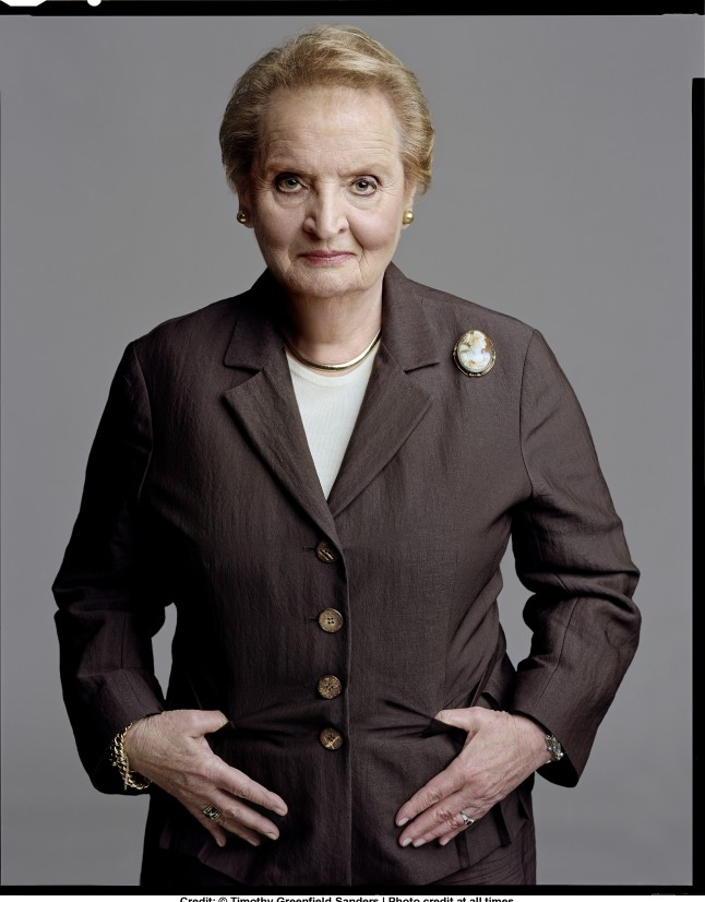 Madeleine Albright. Credit: © Timothy Greenfield-Sanders