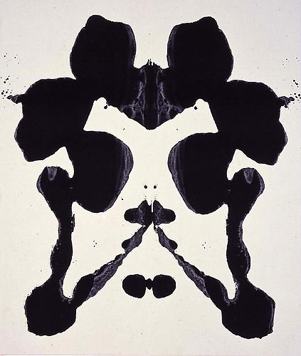 Andy Warhol, Rorschach, 1984, Synthetic polymer paint and silkscreen ink on canvas, 24 x 20 inches (61 x 50.8 cm)