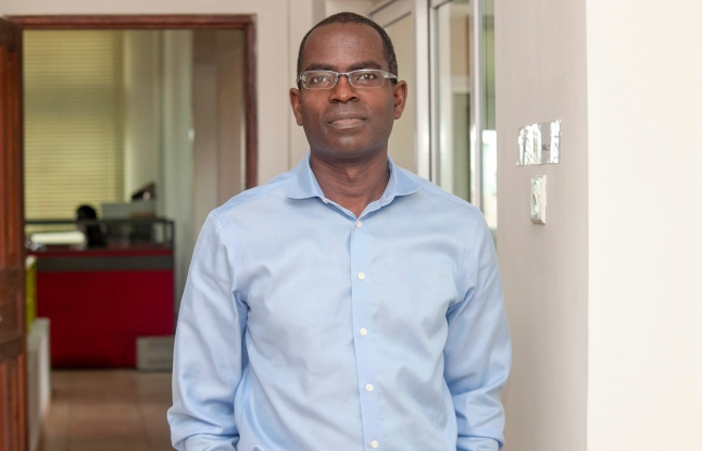 CEO of the Ashesi University College Patrick Awuah. On the day of September 17th 2015 at Brekuso in the Eastern Region of Ghana. (Credit: John D. & Catherine T. MacArthur Foundation. )