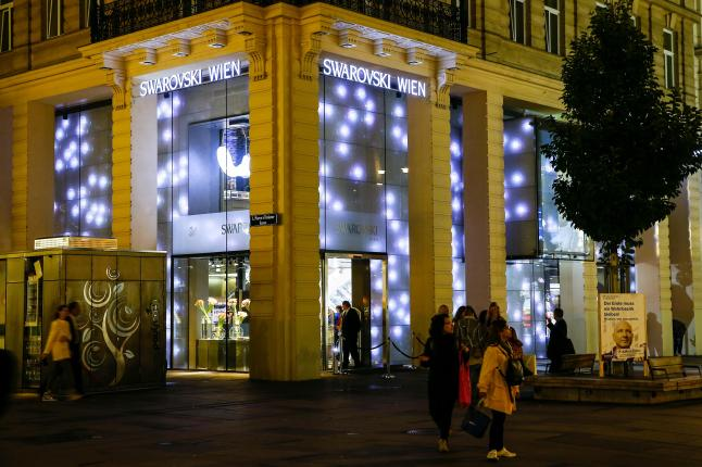 VIENNA, AUSTRIA - SEPTEMBER 15: attends the Installations By Designer Jean Paul Gaultier at the Swarovski Kristallwelten Store Vienna on September 15, 2015 in Vienna, Austria. (Photo by Franziska Krug/Getty Images for Swarovski Kristallwelten)