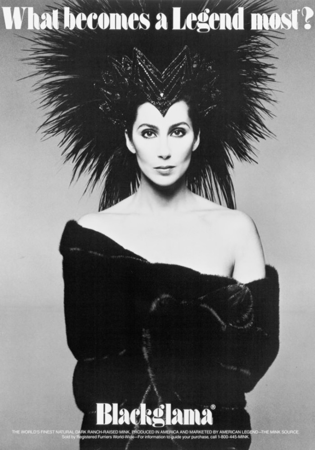 Blackgama 1986 - Cher