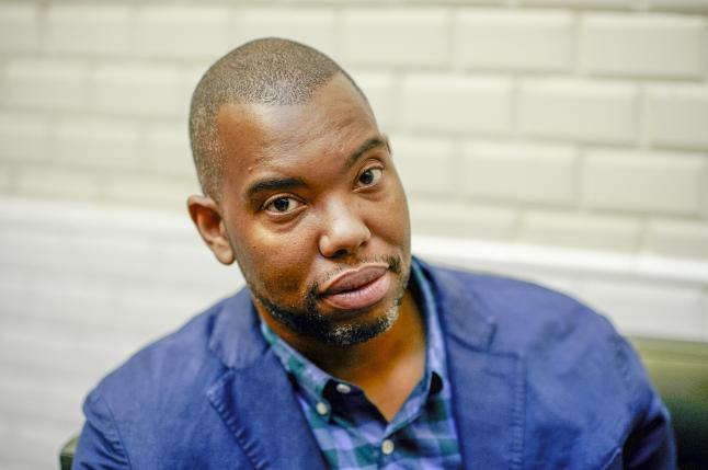 Paris, France. September 14, 2015. Ta-Nehisi Coates is seen at Cercle Kadrance in Paris, on Monday, September 14, 2015 in Paris, France. Antoine Doyen/AP Images for John D. & Catherine T. MacArthur Foundation