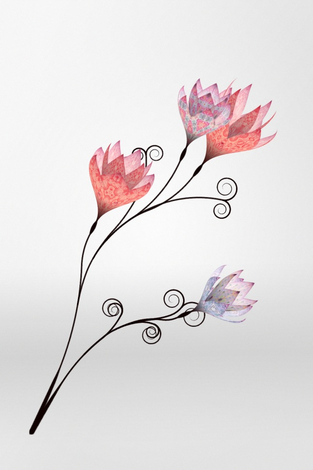 "Brown said; ""The 'Love Blossoms' project gave the opportunity to apply cutting edge generative-art principles to an established, heritage luxury brand and create a seasonal and unique gift for each Mulberry follower. Using prints from the Spring Summer 2011 collection, each flower is generated so that no two blooms are ever the same."""