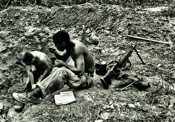Digging In, 1965. Photo by Second Lieutenant James R. Lowell, U.S. Army.