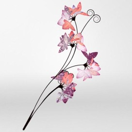 """Brown said; """"The 'Love Blossoms' project gave the opportunity to apply cutting edge generative-art principles to an established, heritage luxury brand and create a seasonal and unique gift for each Mulberry follower. Using prints from the Spring Summer 2011 collection, each flower is generated so that no two blooms are ever the same."""""""