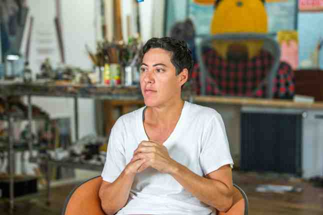 Nicole Eisenman is seen at her studio in Brooklyn, New York on Friday September 18, 2015. Adam Lerner / AP Images for Home Front Communications
