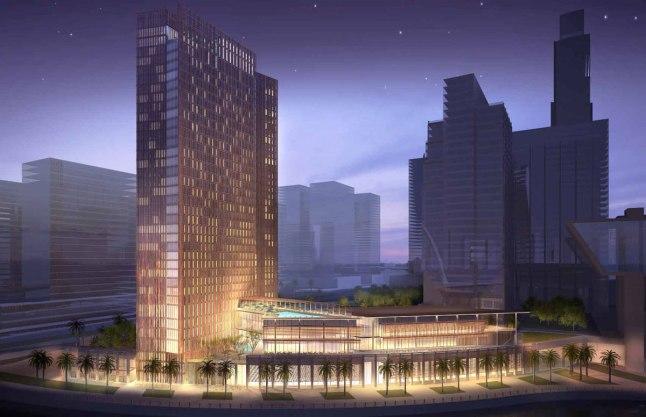 Architect rendering of the  Four Seasons Hotel Abu Dhabi at Al Maryah Island
