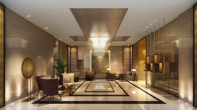 Interior at the Four Seasons Hotel Dubai International Financial Centre