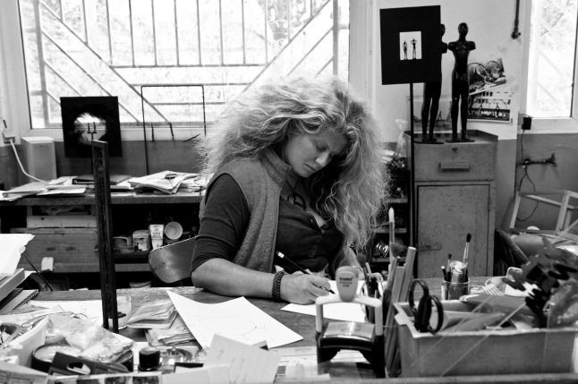 French sculptor Nathalie Decoster