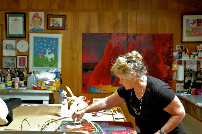 Gayel Childress in studio