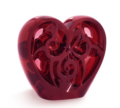 Red Crystal Heart, limited edition of 499 pieces