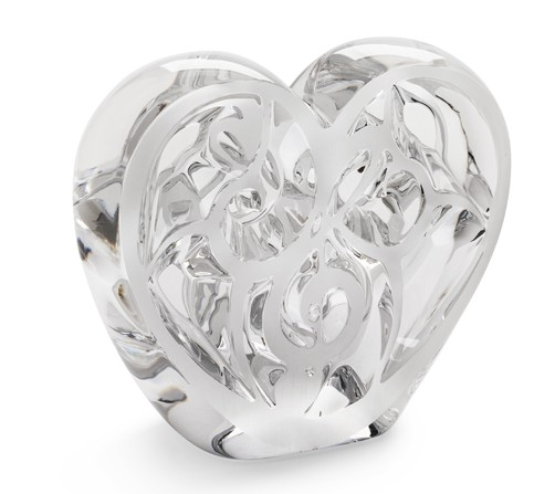 Clear Crystal Heart,  limited edition of 999 pieces