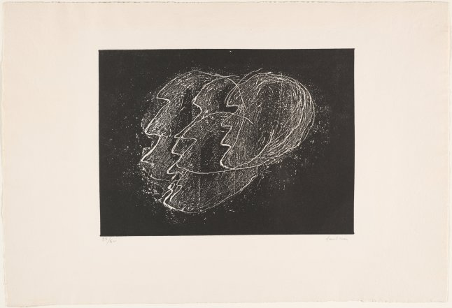 Jean Fautrier (French, 1898-1964). Hostages Black Ground (Otages fond noir). 1944-47 (printed c. 1962). Etching, relief printed. Plate: 9 1/2 x 12 9/16″ (23.5 x 31.9 cm); sheet: 14 7/8 x 21 15/16″ (37.8 x 55.8 cm). Publisher: Édition Couturier, Paris. Printer: Jacques David, Paris. The Museum of Modern Art, New York. Arthur B. Stanton Fund © 2015 Artists Rights Society (ARS), New York / ADAGP, Paris