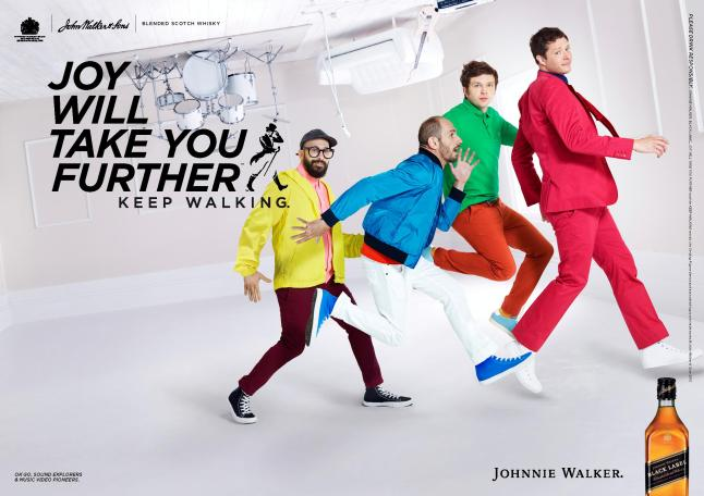 "Johnnie Walker ""Joy Will Take You Further""  - OK GO"