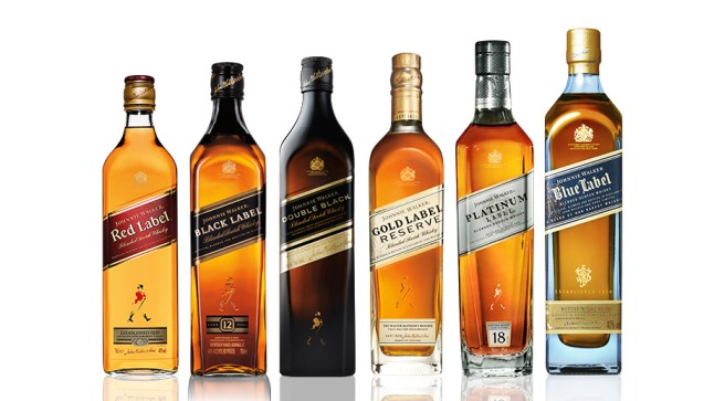 Johnnie Walker Product line up
