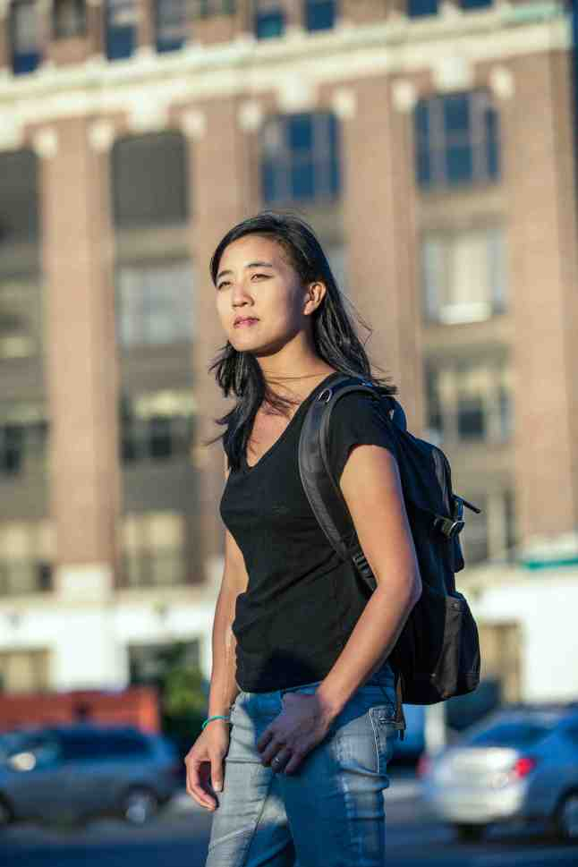 Mimi Lien is seen in Brooklyn, New York on Monday September 14, 2015. Adam Lerner / AP Images for Home Front Communications