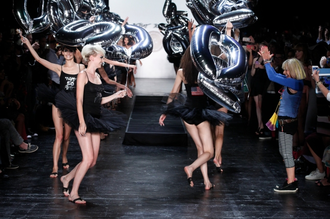 The Finale at The Betsey Johnson spring/Summer 2016 Fashion Show. (Photo Credit: Dan Lecca)