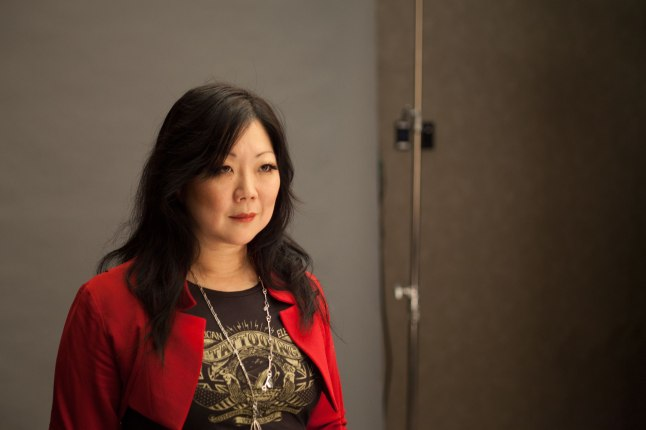 """Margaret Cho on the set of """"American Masters: The Women's List."""" Credit: ©Greenfield-Sanders Studio"""