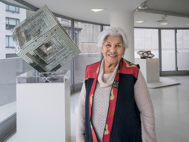 Portrait of Monir Shahroudy Farmanfarmaian. Photo: David Heald © The Solomon R. Guggenheim Foundation
