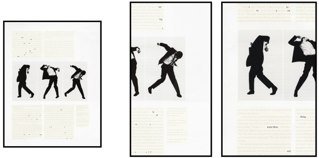 Natalie Czech (German, born 1976). A Poem by Repetition by Allen Ginsberg. 2013. Three chromogenic color prints, three frames, museum glass, overall 55 3/16 × 96″ (140.1 × 243.9 cm). Courtesy Capitain Petzel, Berlin and Kadel Willborn, Düsseldorf. © 2015 Natalie Czech/VG Bild-Kunst, Bonn