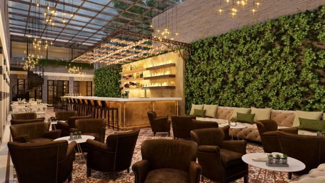 Four Seasons Hotel Casa Medina Bogotá - Outdoor Atrium at Castanyoles Raciones y Tapas