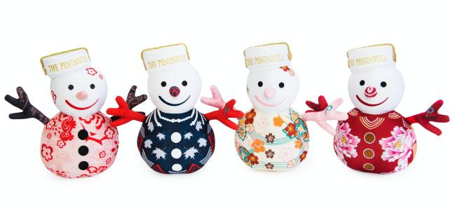 The Peninsula's iconic holiday mascot SnowPage dresses to impress, with a percentage of proceeds from each SnowPage donated to the Make-A-Wish Foundation®.