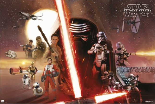 Star Wars: The Force Awakens Full Cast Poster