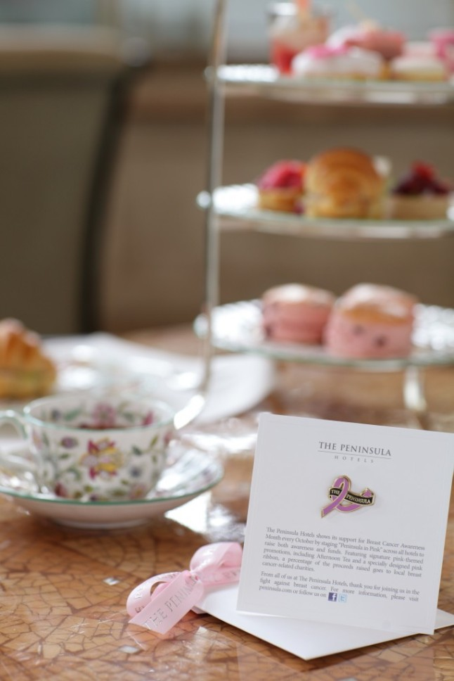 The Lobby's offers a special The Art of Pink Peninsula Afternoon Tea, featuring rose-tinted sweets and savory treats.