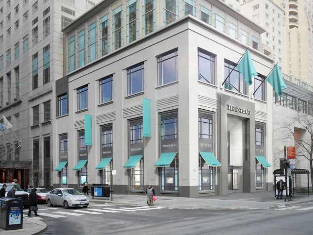 Artistic rendering from Neoscape of the newly renovated Tiffany & Co Michigan Avenue Storefront (2014). 730 N. Michigan Ave. is the first Tiffany & Co. flagship store to receive the major upgrade